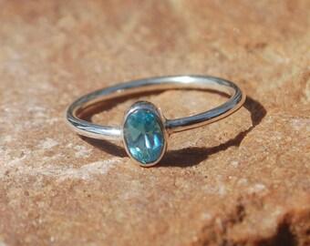 Natural London Blue Topaz Ring - Gemstone Ring - Gemstone Jewelry - Handmade Jewelry