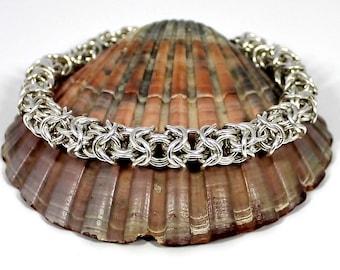 Sterling Silver Bracelet, Silver Bracelet, Chainmaille Bracelet, Chain Mail Bracelet, Chainmail Bracelet