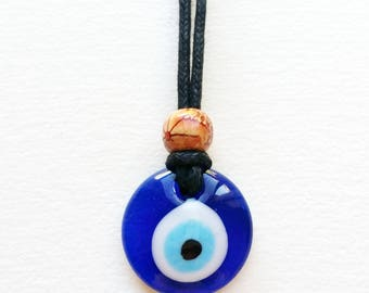 Evil Eye Necklace - jewelry for protection, evil eye jewelry, evil eye jewellery, spiritual jewelry, lampwork necklace, glass evil eye