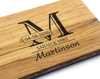 Personalized Wedding Gift, Bridal Shower Gift, Monogram Cutting Board. Wedding Gift for couple, Custom Wedding Gift, Wedding Present