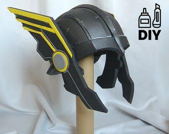 DIY Thor Ragnarok: Thor helmet templat for EVA foam