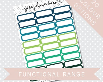 EC QUARTER BOXES - Functional Stickers - Planner Stickers Matt