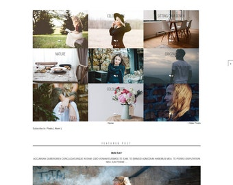 Blogger Template responsive - Grid Layout - Blogspot Theme Design - Blog Website - premade blogger theme - ADDA Template - Instant Download