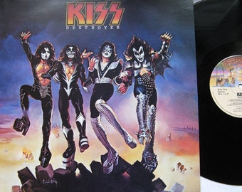 "Kiss ""Destroyer"" LP Vintage Vinyl Record - 1970's- Excellent Condition - Free Shipping! Stanley, Gene Simmons"