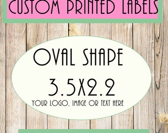 oval shape,3.5x2.2 custom labels, custom labels, custom stickers, oval stickers,oval labels,Professional Full Color Printing, Glossy,labelin