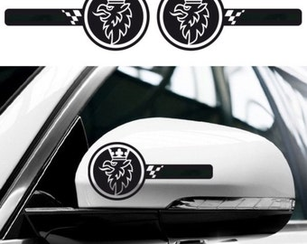 2x SAAB Custom Wing Mirror Side Body Decals Graphics Stickers - 9-3 9-5 93 95  - for All models