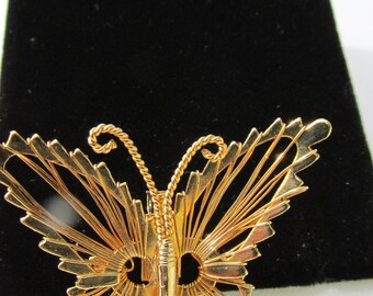 SALE Lovely Gold Butterfly Brooch
