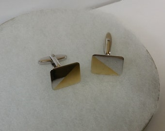 MS152 partly gold plated 925 Silver cufflinks