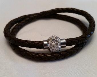 Leather Bracelet / leather wrap bracelet LB5-12