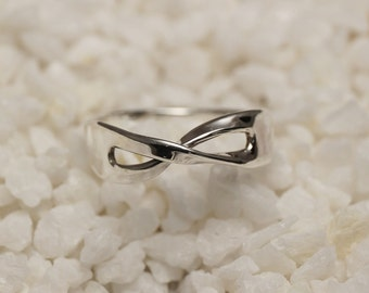 Sterling Silver Infinity Ring, handmade