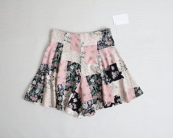 full floral shorts | 90s shorts | patchwork shorts