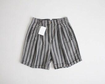 blue plaid shorts | 90s shorts | ethnic shorts