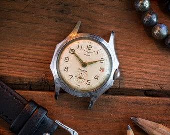 Vintage Chaika watch, Rare Chaika, russian watch, retro watch, mechanical watch, old watch, ussr cccp soviet watch