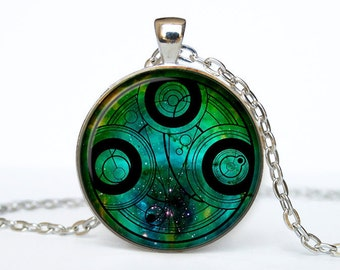 Doctor Who quote necklace Dr Who pendant Dr Who jewelry  Gallifreyan Time Lord Galaxy Gallifrey Circular Gallifreyan Symbol