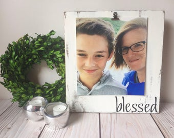 Picture Frame - Rustic Home Decor - Wood Frame - 8x10 Frame - Blessed - Fall Decor - Farmhouse Decor - Rustic Frames - Housewarming Gift