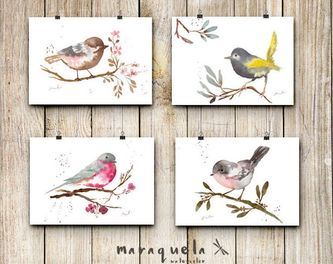 DICOUNT SET BIRDS,illustration Watercolor Collection,art print birds,animals,nature,elegant style,decoration,home decor,living room,gifts