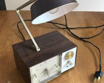 Clock Radio Lamp Etsy