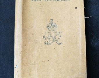 WWII British Soldiers Bible, WWII King George VI Military New Testament Bible With Message From The King, Collectors WW2 Military Bible