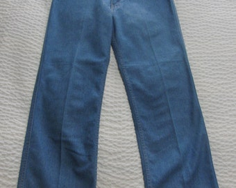 Vintage Levi's Action Slacks sz. 32 x 25 Light Wash High Waist Straight Leg Dungarees Jeans