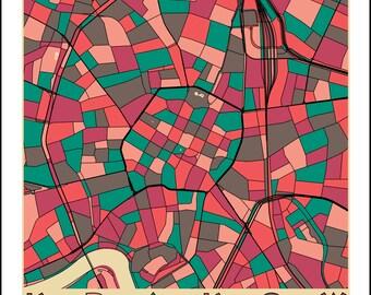 Krakow map  Etsy