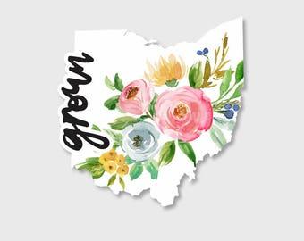 Ohio State, Ohio sticker, Ohio decal, Ohio map, Yeti Decal, Yeti Stickers, Car decals for women, Car Stickers, Vinyl Decal, Stickers