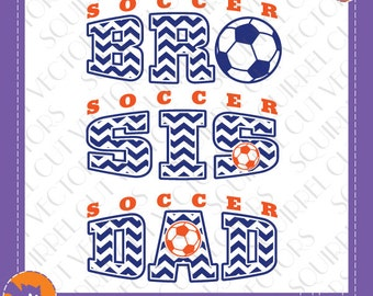 Soccer Fam Art   SVG DXF EPS Cutting files