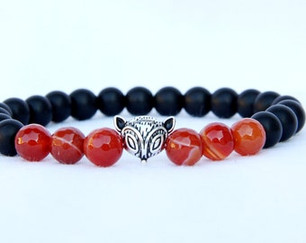 gift for her valentines day gift  boho Jewelry boho Bracelet fox Jewelry fox Bracelet agate Jewelry agate Bracelet agate Jewelry