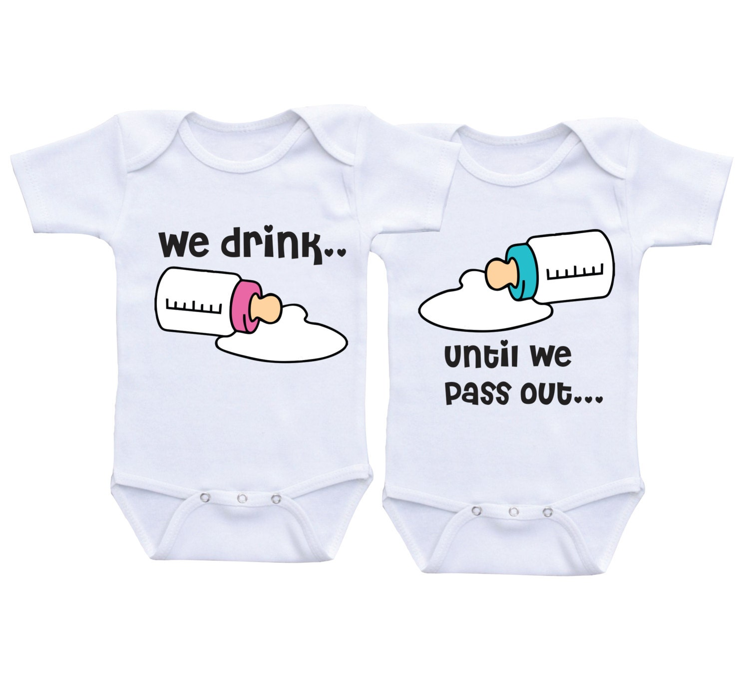 double bubble twin outfits twin baby gift by daiichibandesigns, Baby shower
