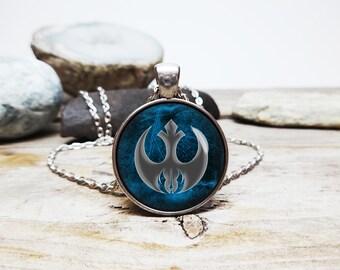 star wars necklace Jedi necklace the force necklace jedi symbol pendant jedi alliance necklace jedi jewelry luke skywalker star wars fan