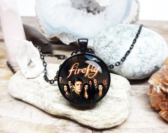 Serenity necklace firefly necklace firefly pendant joss whedon fan necklace sci fi jewelry sci fi necklace firefly tv show jewelry for him