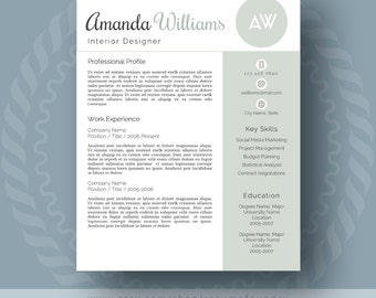 inspired resume templates for the stylish by resumefoundry on etsy