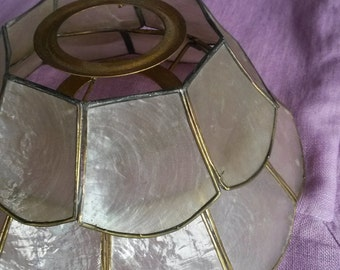 2 Lampshades, Mother of Pearl Lampshades, 1930s Lighting, Vintage, Nacre, 2 Small Lampshades