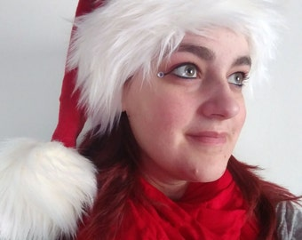 SOLD Santa Hat (Luxury faux fur) (AVAILABLE made to order)
