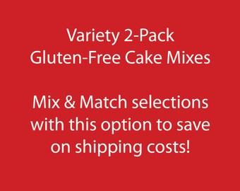 Variety 2-Pack: Gluten-free Cake Mixes