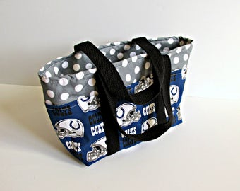 READY TO SHIP Indianapolis Colts Inspired Handbag / Nfl Tote / Womens Purse / Fabric tote / Indiana