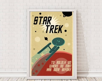Star Trek Classic Retro Poster Art Film Poster Movie Poster