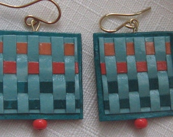 woven paper earrings by paula
