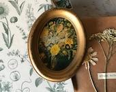 Vintage Floral Bouquet Art -- Wall Decor -- kitsch Decor