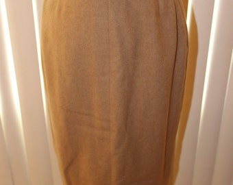 Vintage 50s Camel Hair Pencil Skirt