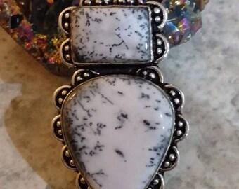 Beautiful Dendritic Opal Pendant Necklace