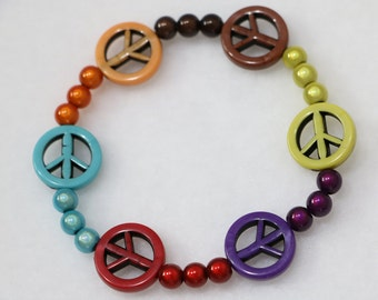 Peace symbol bracelet.           B-56