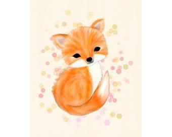 Fox nursery printable download, fox nursery decor, fox nursery art, instant download, woodland nursery decor, baby's nursery art