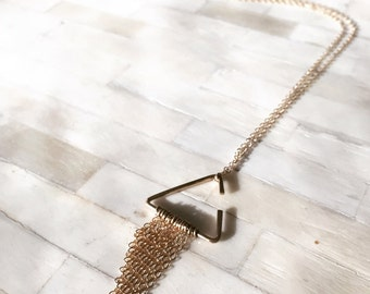 Triangle Dangling Chain Necklace