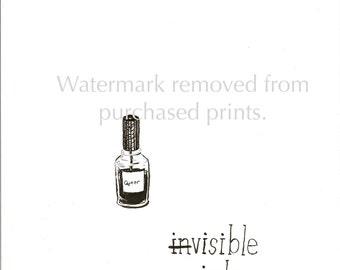 Visible Ink - Queer Nail Polish print