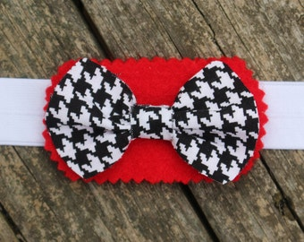Go Bama! Pet Bow Tie, Alabama Crimson Tide, Mini Pig Clothes, Rabbit Clothes, Guinea Pig Clothes, Houndstooth
