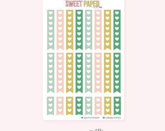 Heart Checklist Planner Stickers | VINTAGE HOLIDAY