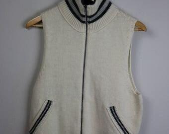 40% Off Flash Sale - JEAN PAUL GAULTIER Vintage Wool Sleeveless Knit Vest Size Medium