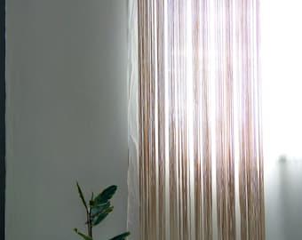 Custom Kitchen Macrame Curtains Fiber art Bohemian Short
