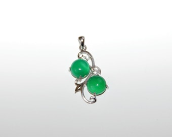 Green Chalcedony / Sterling Silver