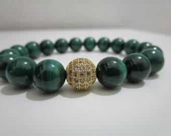 Malachite Malachite bracelet, bracelet of semi-precious stones, bracelet, gift, gift for women, Gift Ideas, jewelry,Gemstone jewelry